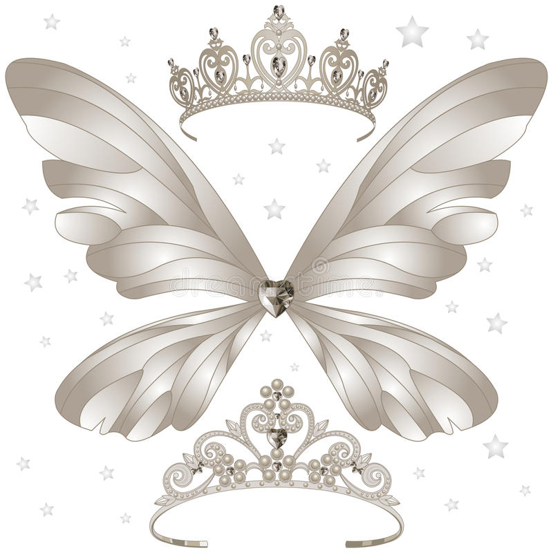 被设置的光亮的冠状头饰 皇族释放例证