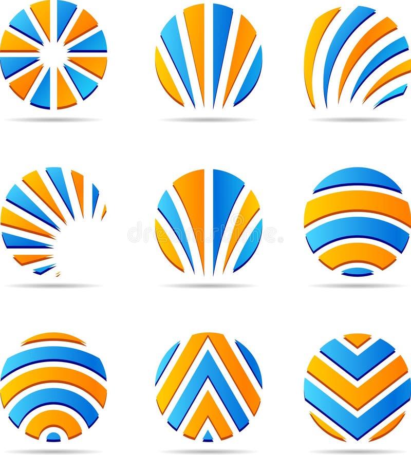 被设置的公司徽标 向量例证