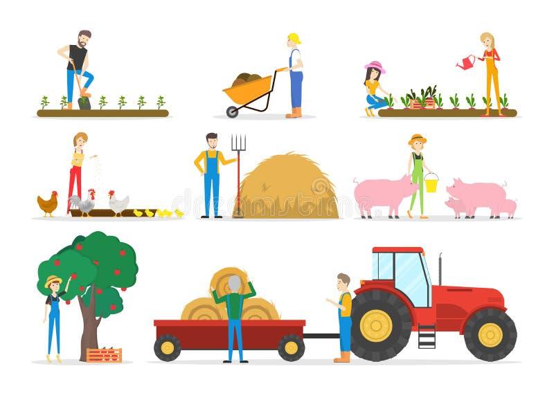 被设置的农厂例证 向量例证