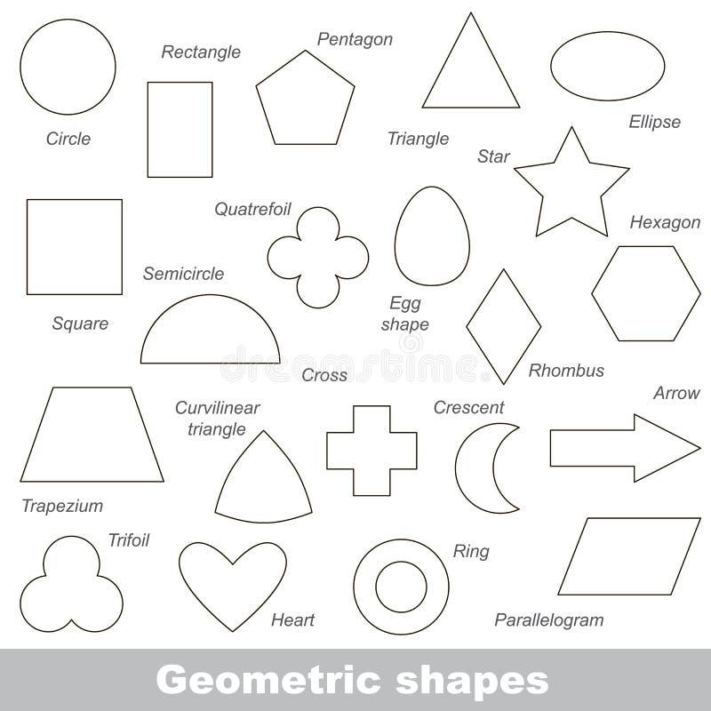 被设置的几何形状 向量例证