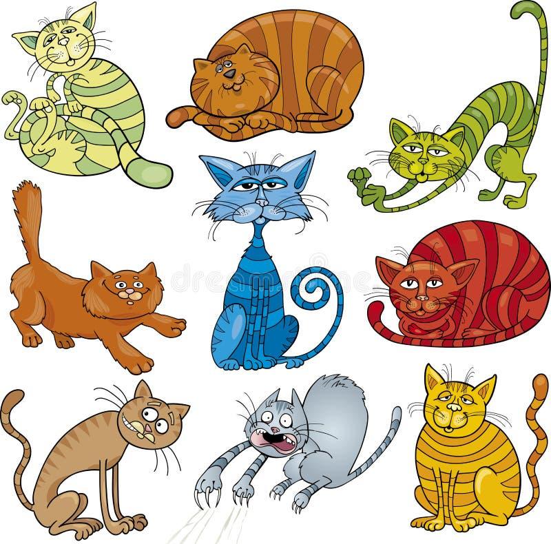 被设置的动画片猫 皇族释放例证