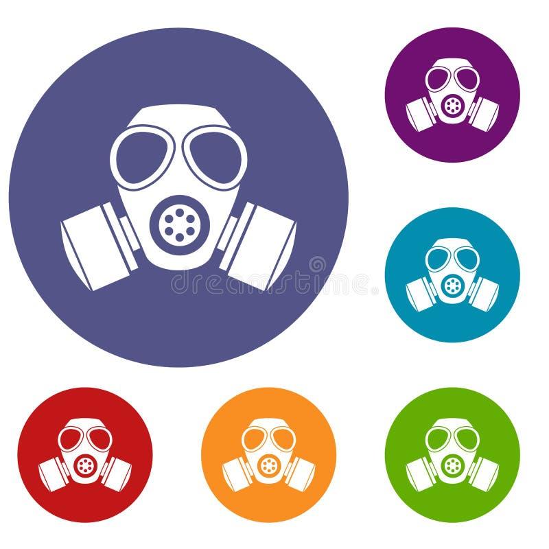 被设置的化工防毒面具象 库存例证