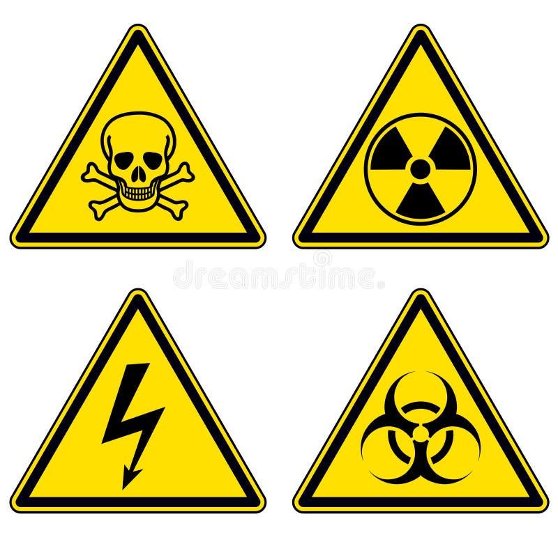 被设置的危险和警报信号 库存例证