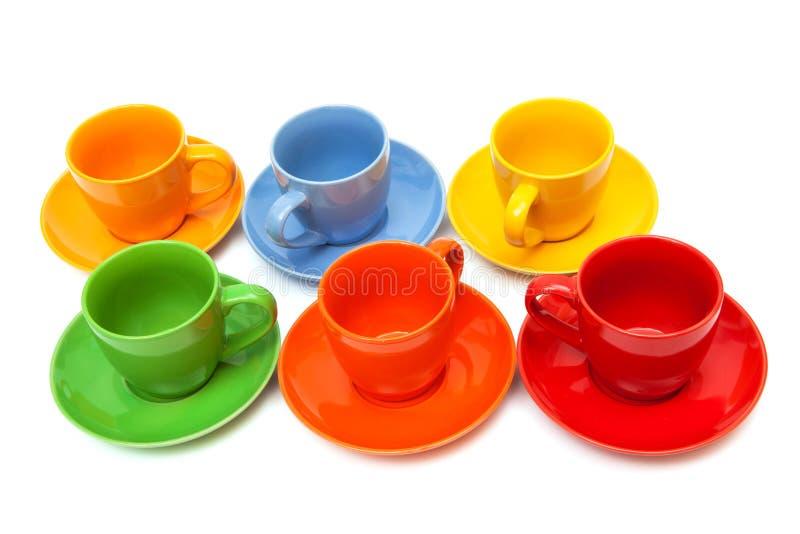 被设置的咖啡杯 免版税图库摄影