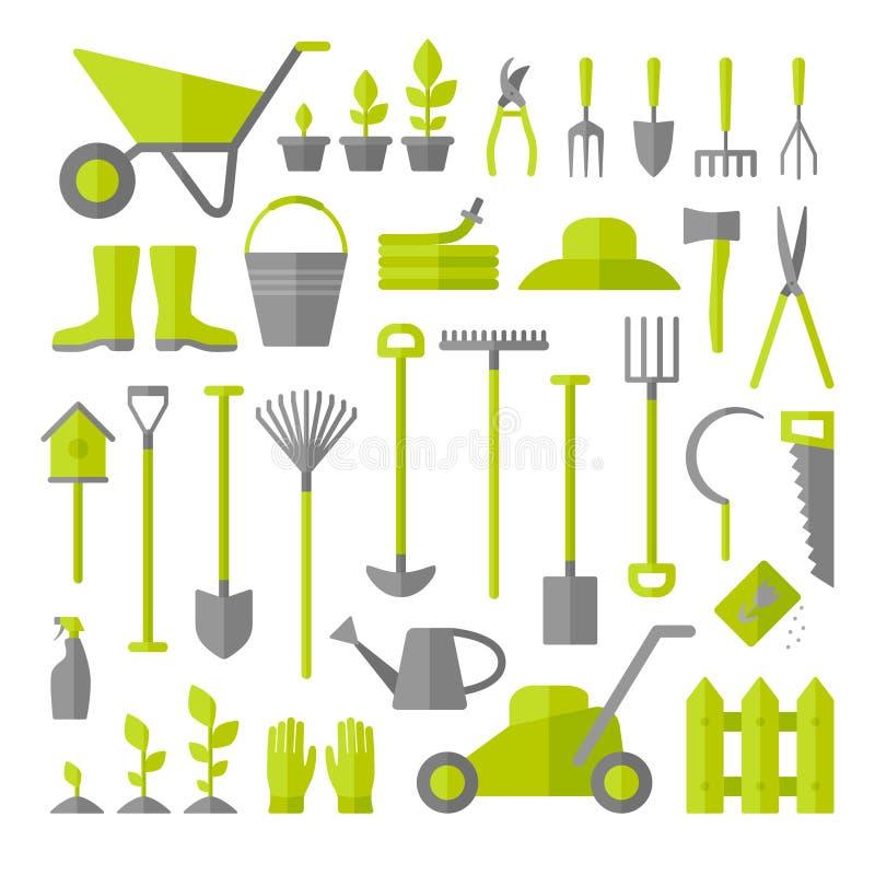 被设置的园艺工具 免版税库存图片