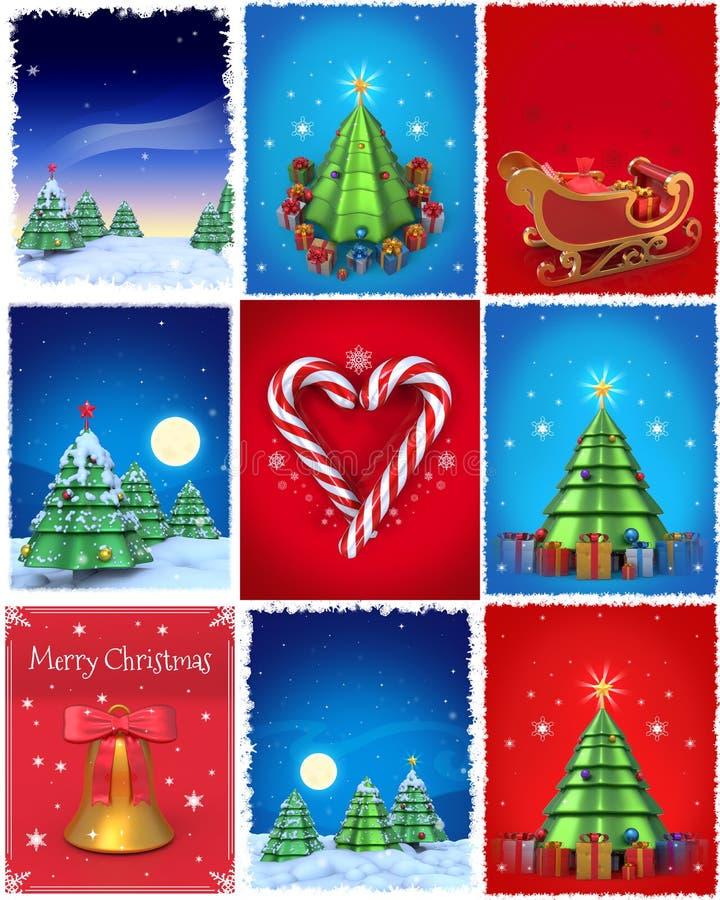 被设置的圣诞节例证 库存图片