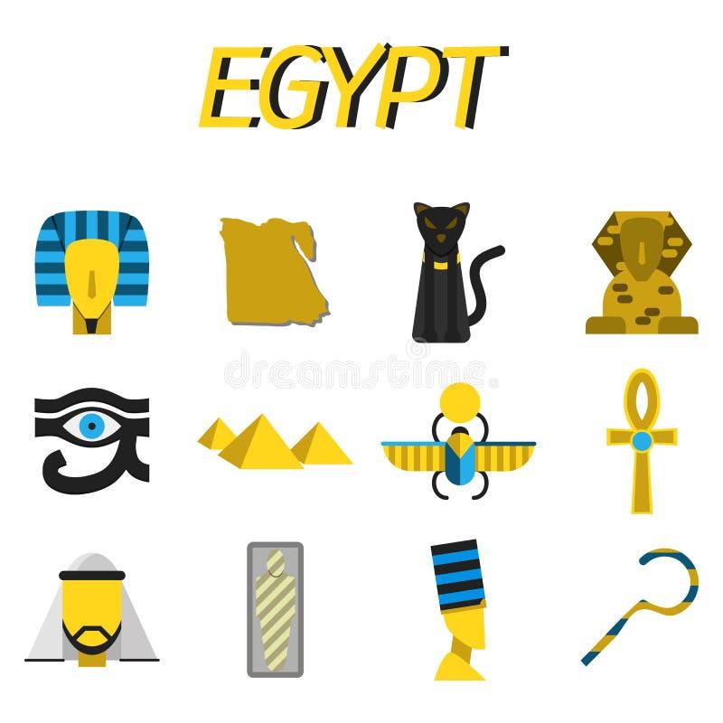被设置的埃及平的象 皇族释放例证
