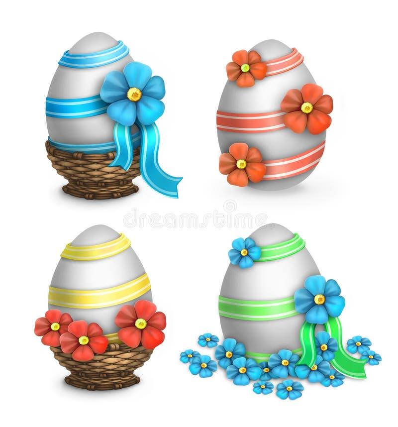 被设置的复活节彩蛋 向量例证