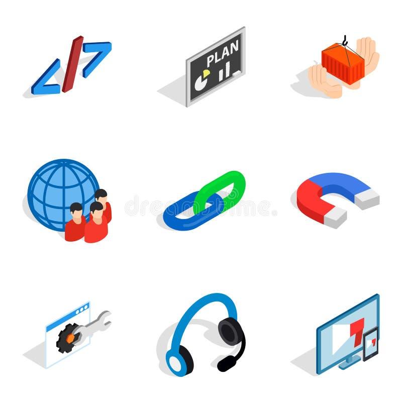 被设置的多用途设备象,等量样式 库存例证