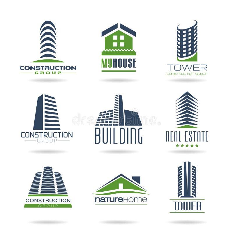 被设置的大厦和建筑象- 3 向量例证