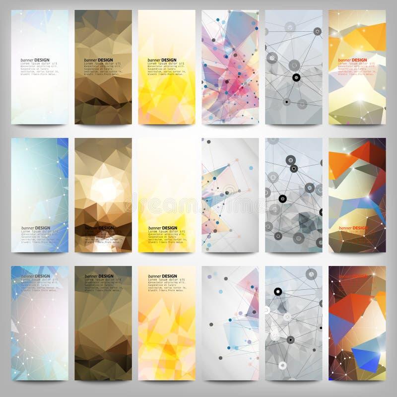 被设置的大色的抽象横幅 概念性 皇族释放例证