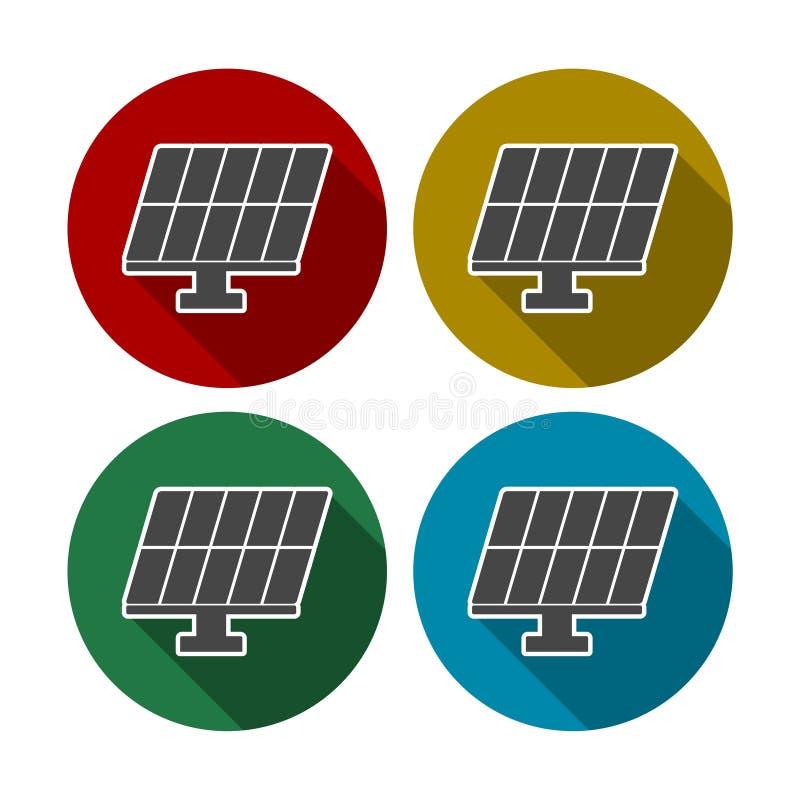 被设置的太阳电池板象 皇族释放例证