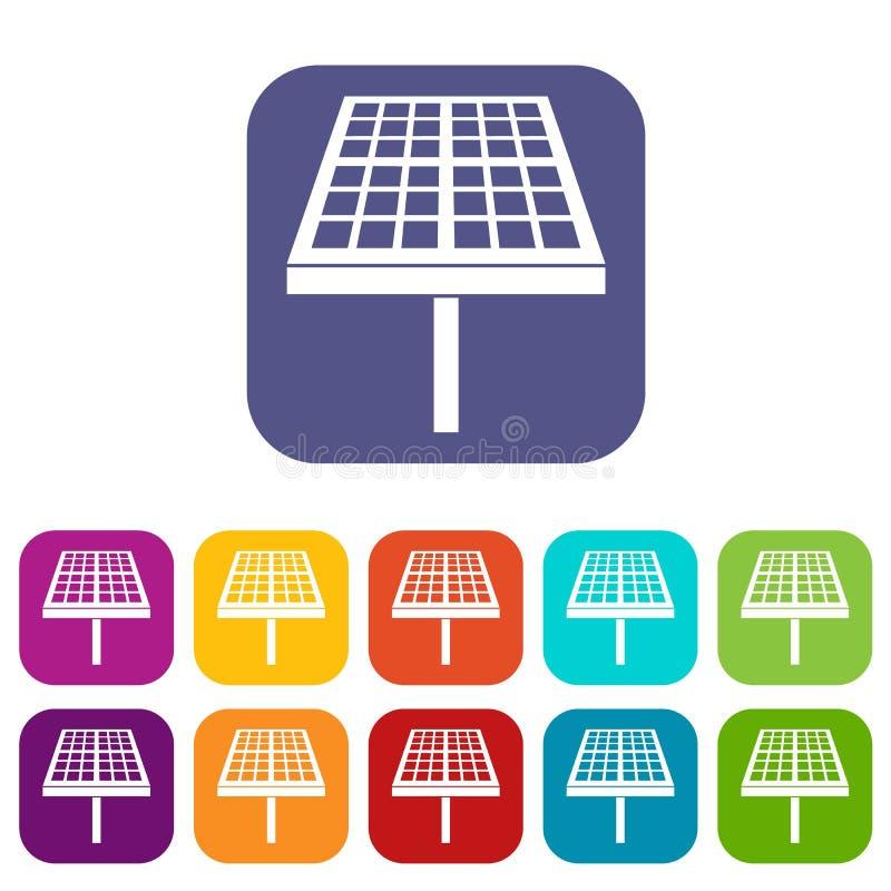 被设置的太阳能盘区象 皇族释放例证