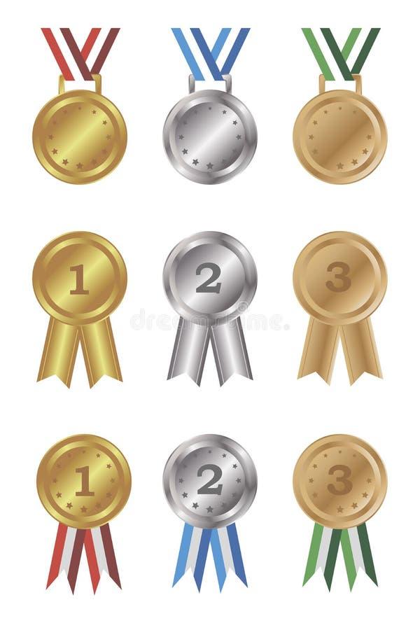 被设置的奖牌和奖 皇族释放例证