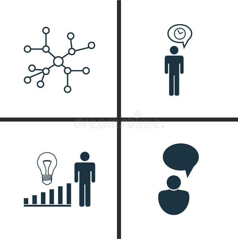 被设置的委员会象 观点分析、交谈、计划和其他元素的汇集 并且包括标志这样 向量例证