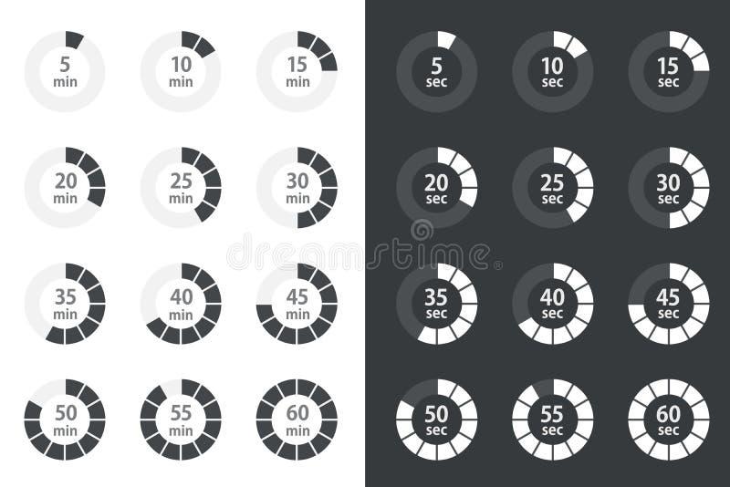 被设置的定时器象,秒表传染媒介象 皇族释放例证