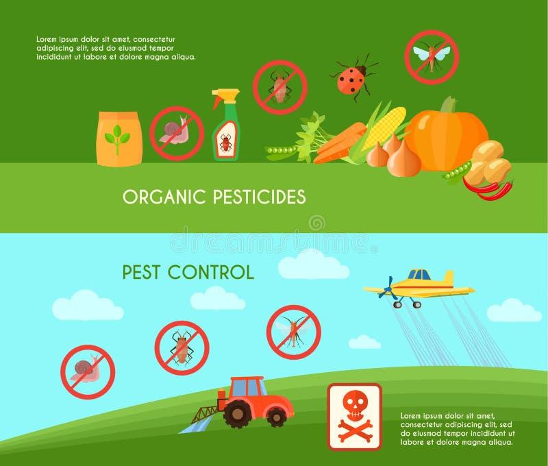 被设置的害虫控制横幅 库存例证