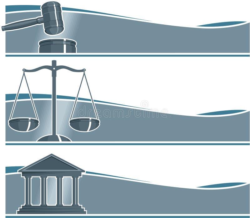 被设置的律师横幅 向量例证