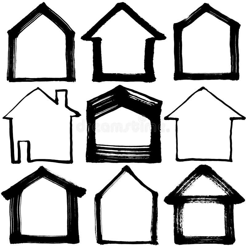 Download 被设置的房子图标 向量例证. 插画 包括有 图画, 向量, 例证, 房子, 屋顶, 乱画, 布琼布拉, 拱道 - 72374674