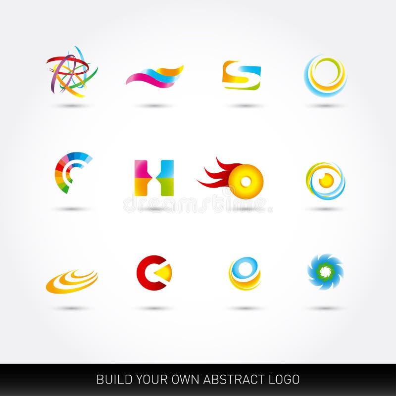 被设置的抽象传染媒介象 传染媒介例证,图形设计编辑可能为您的设计 略写法的抽象想法 向量例证