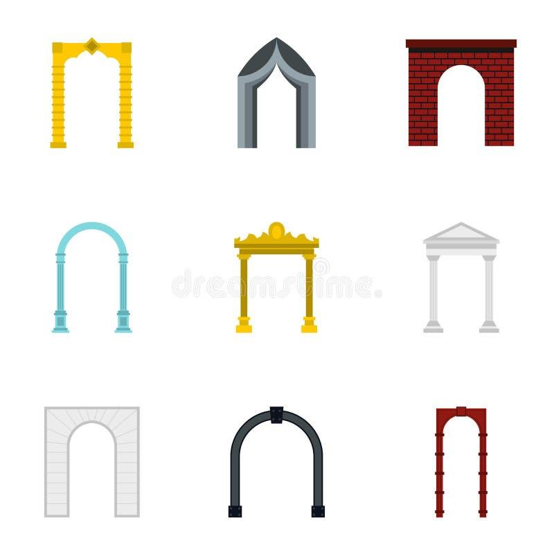 被设置的拱道象,平的样式 皇族释放例证