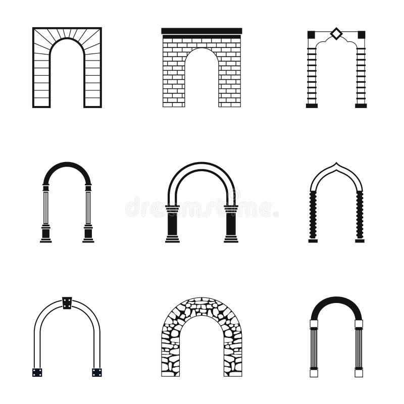 被设置的拱道象,简单的样式 向量例证