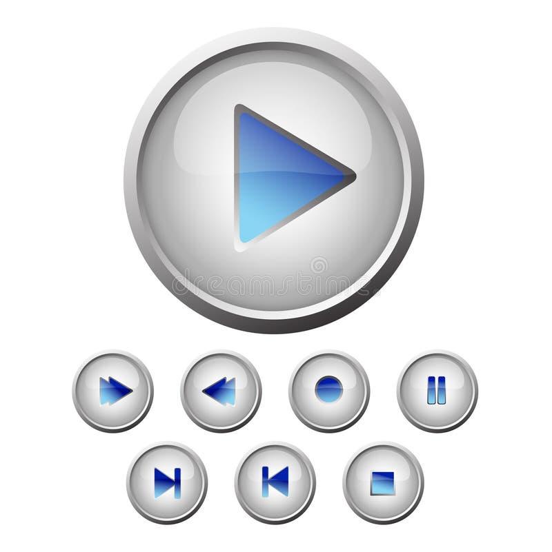 被设置的按钮 库存例证