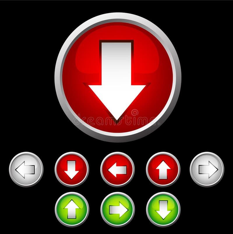 被设置的按钮 皇族释放例证