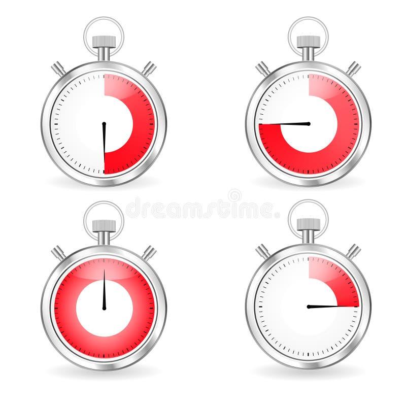 被设置的数字式定时器 库存例证
