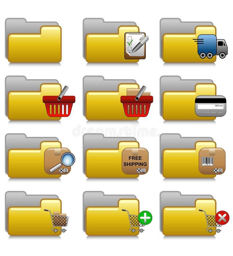 被设置的文件夹-商务应用文件夹16 库存例证