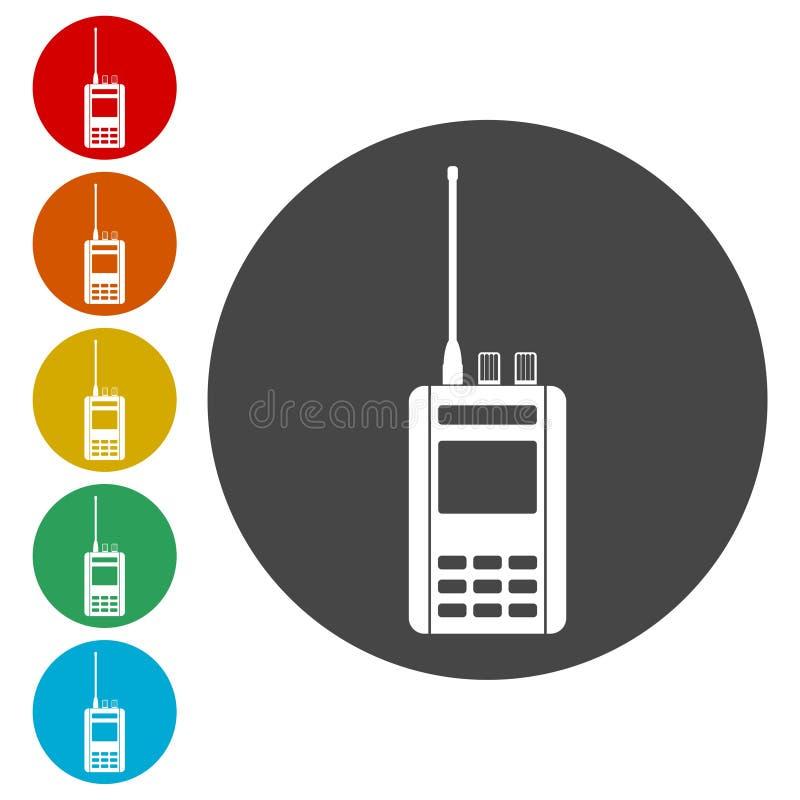 被设置的无线电象 向量例证