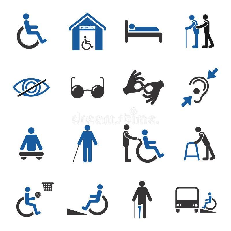 被设置的残疾象 库存例证