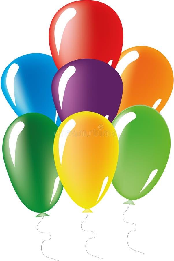 被设置的气球 库存例证
