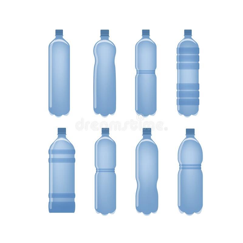 被设置的水瓶 向量例证