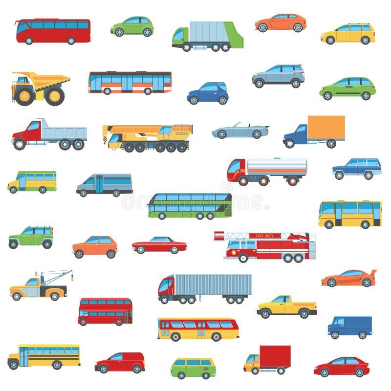 被设置的汽车图标 库存例证