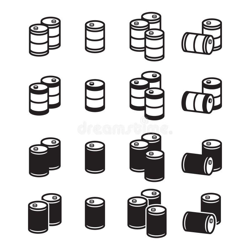 被设置的油桶象 库存例证