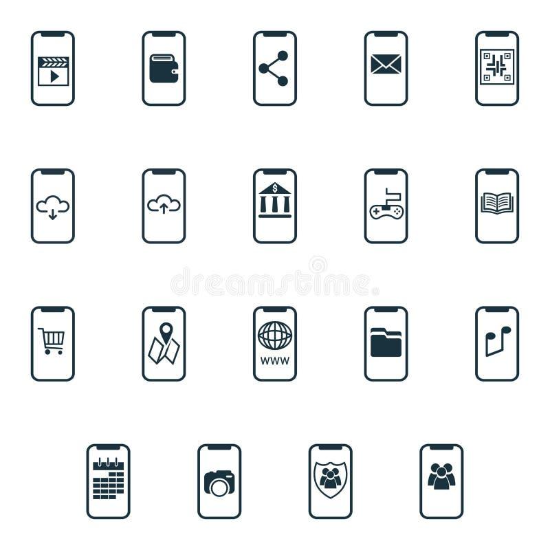 被设置的流动象 UI和UX 优质质量标志收藏 流动象设置了简单的元素用于应用程序,印刷品,软件 库存例证