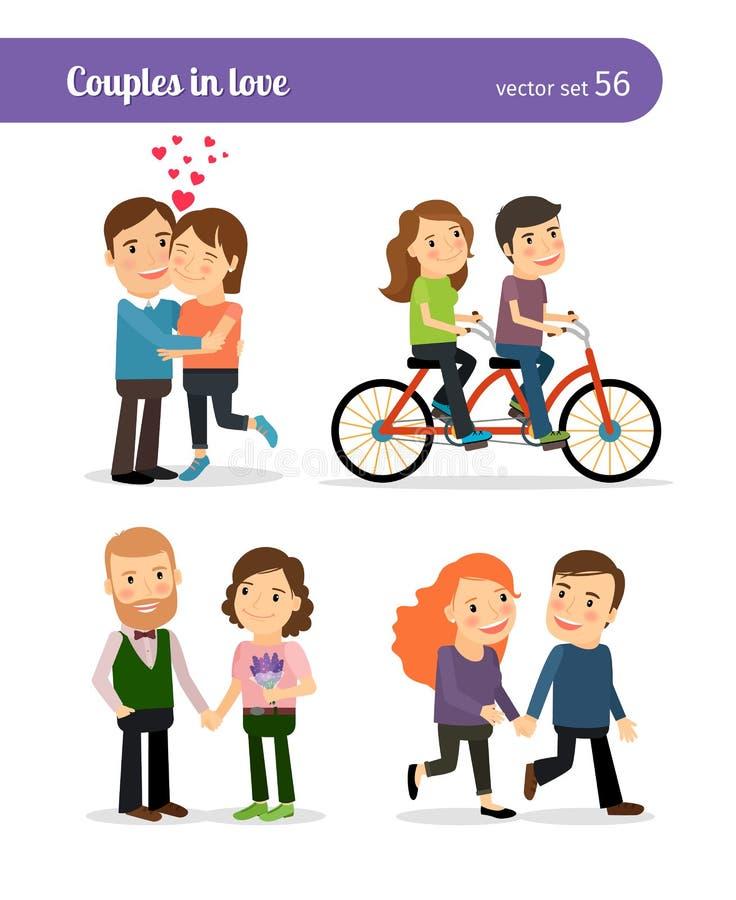 Download 被设置的浪漫夫妇 向量例证. 插画 包括有 朋友, 约会, 创造性, 现代, 夫妇, 交谈, 会议, 愉快 - 62526519