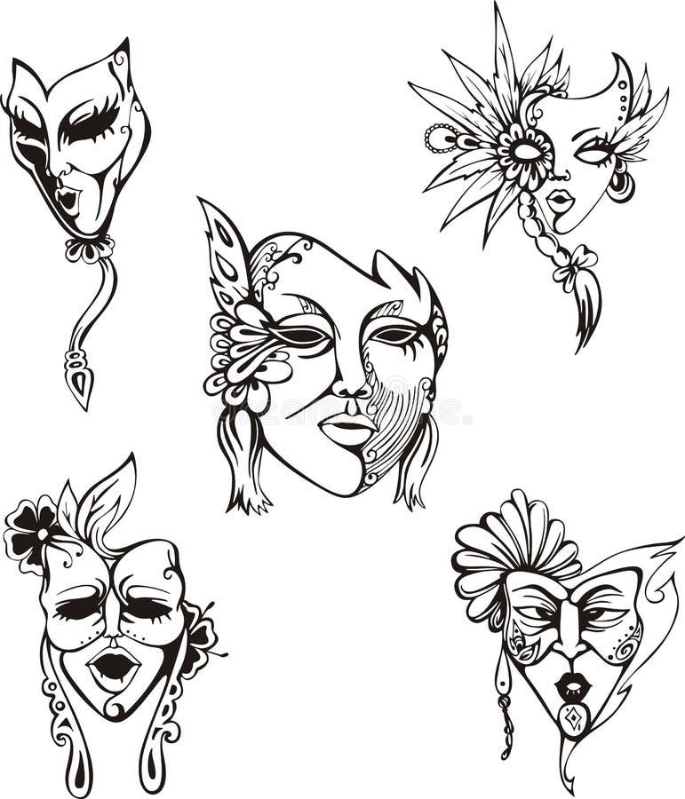 被设置的狂欢节威尼斯式面具.图片