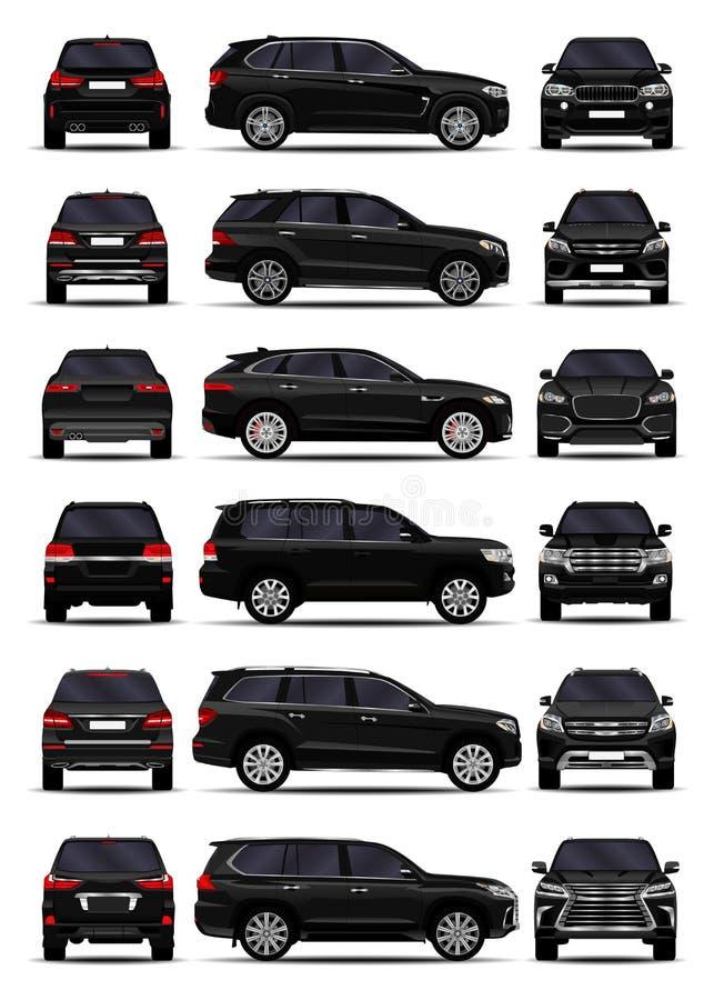 被设置的现实SUV汽车 库存例证