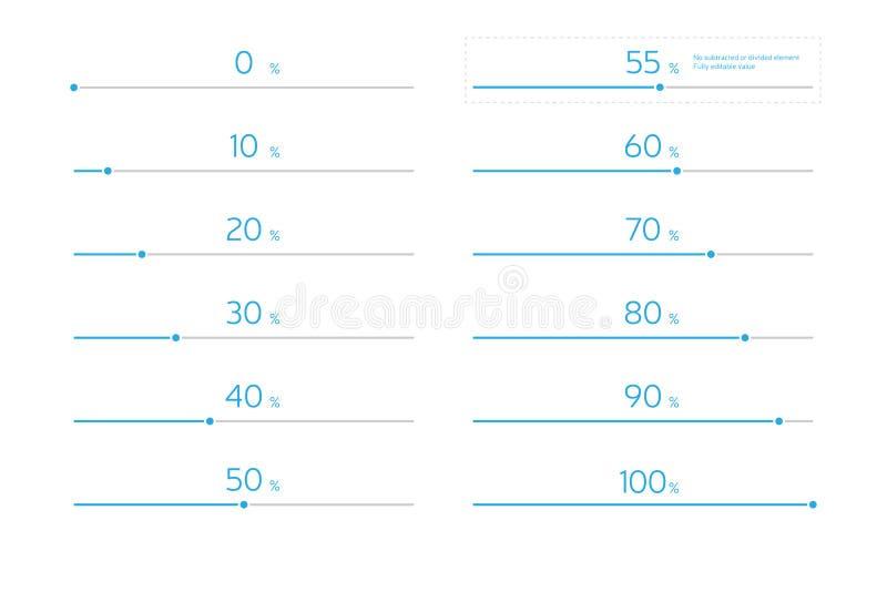 被设置的现代Infographic载重梁-天蓝色 库存例证