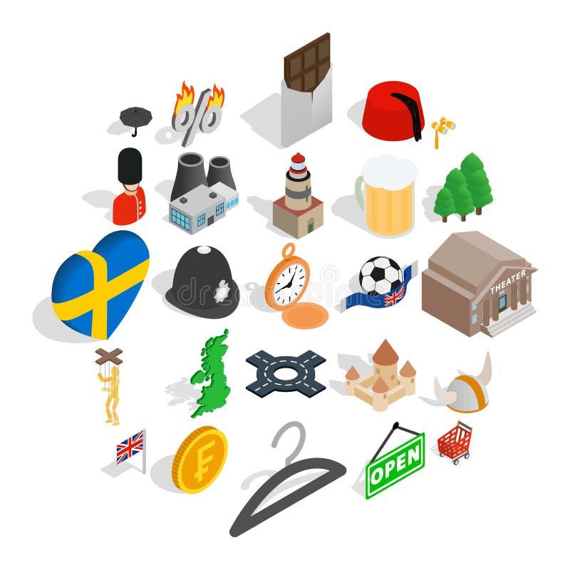 被设置的瑞典象,等量样式 皇族释放例证