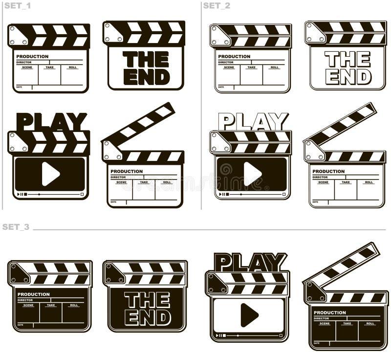 被设置的电影黑白拍板 皇族释放例证