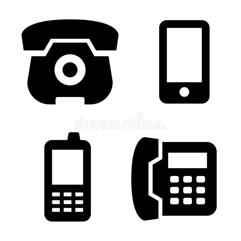 被设置的电话象 向量例证