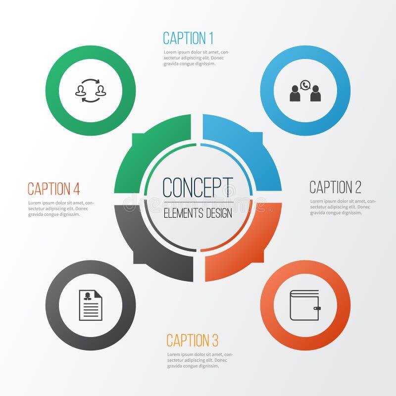 被设置的管理象 队结构,谈话,钱包和其他元素的汇集 并且包括标志例如 库存例证