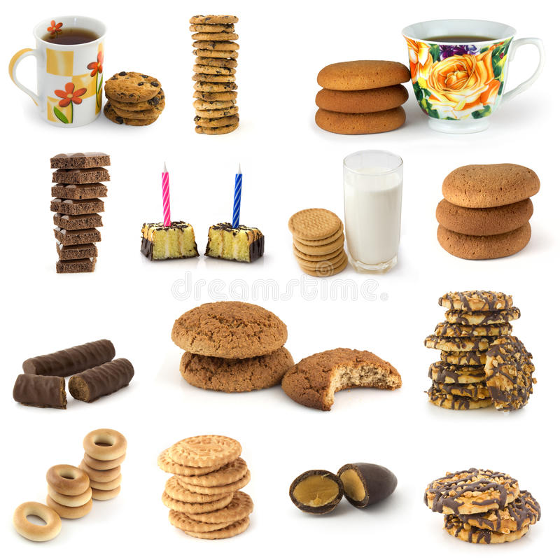 被设置的糖果曲奇饼 免版税库存照片