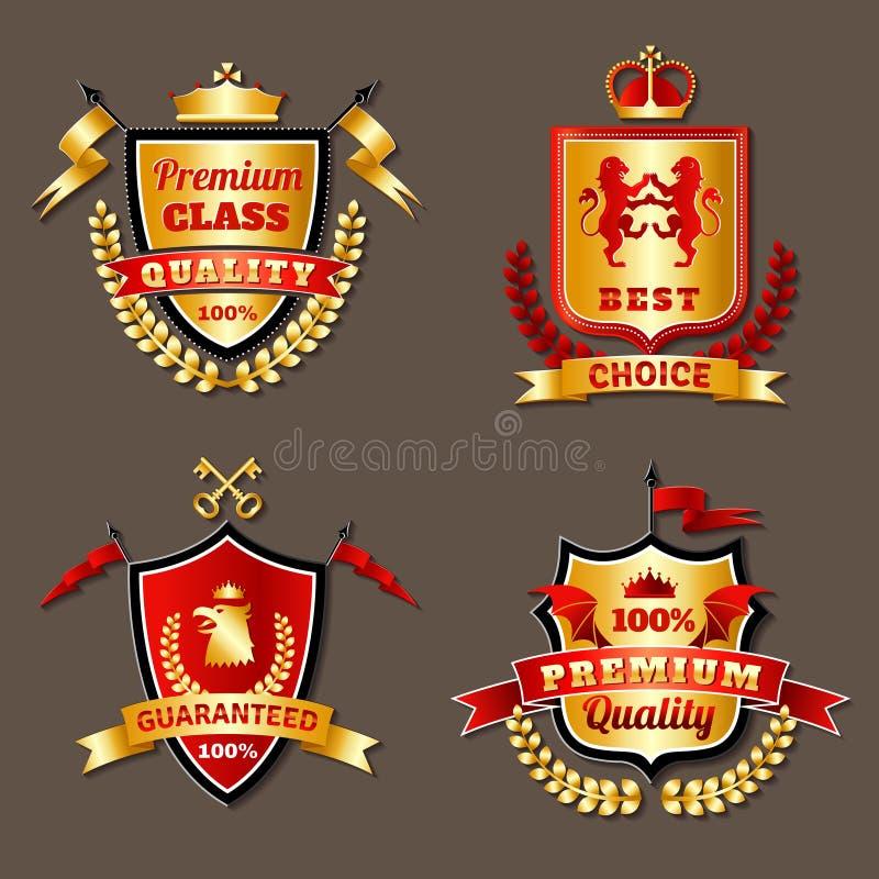 被设置的纹章学优质现实象征 皇族释放例证
