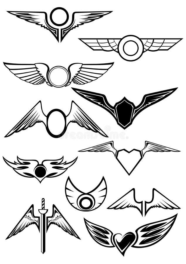 被设置的纹章学象征 库存例证