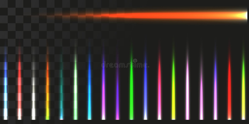 被设置的线性能量射束 激光的传染媒介例证 向量例证
