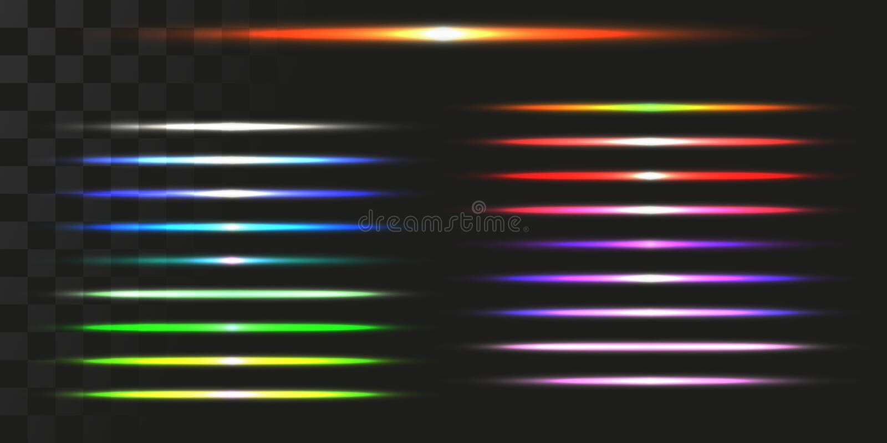 被设置的线性能量射束 轻的足迹的传染媒介例证 库存例证